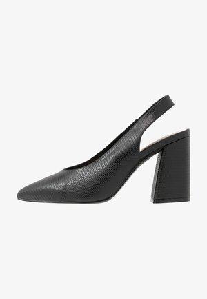 CARRIE SLING BACK COURT - Høye hæler - black