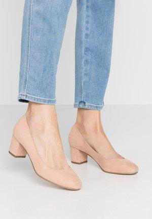 CLEMENTINE ROUND TOE COURT - Classic heels - blush/beige