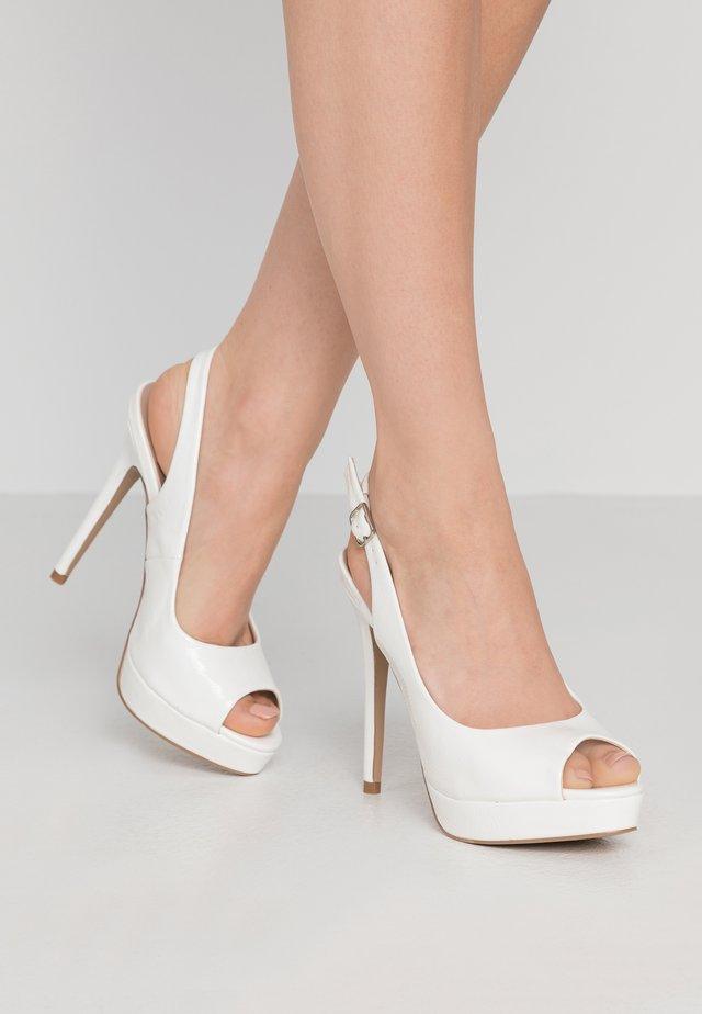 HARPER - Højhælede peep-toes - white