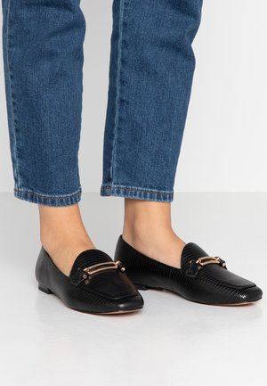 SNAFFLE DETAIL LOAFER - Mocassins - black