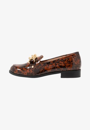 PIPPA CHAIN CHUNKY LOAFER - Slip-ons - brown