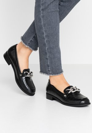 PIPPA CHAIN CHUNKY LOAFER - Slip-ons - black
