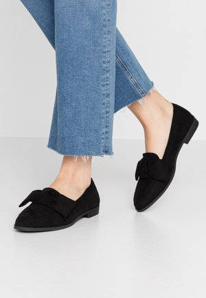 LYRA BOW LOAFER - Slippers - black