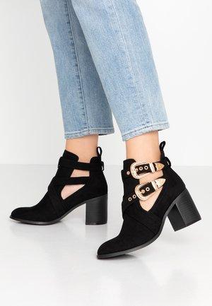 CUT OUT - Kotníková obuv - black