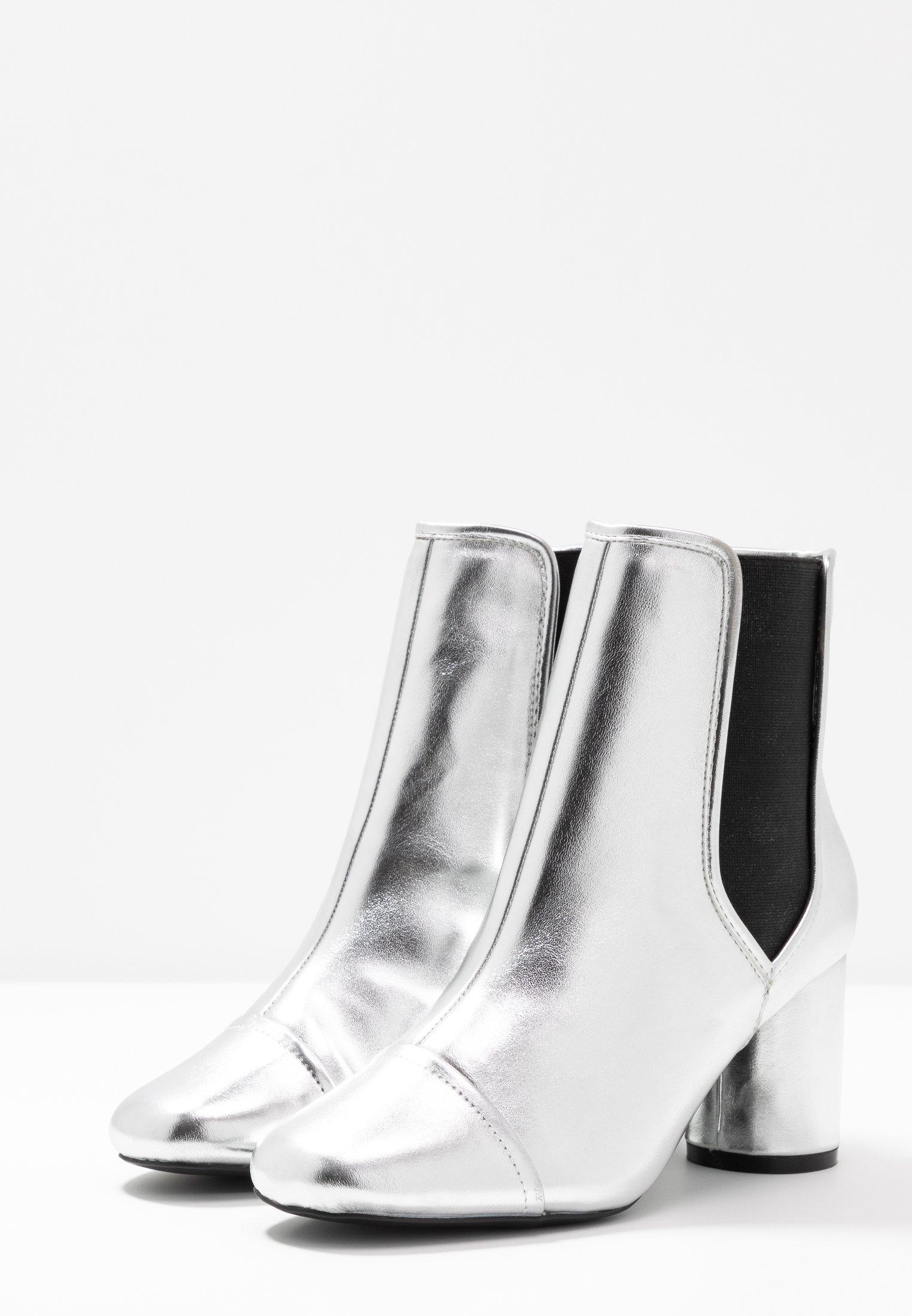 Chelsea BootBottines Selfridge Round Heel Silver Miss xBrodeCW
