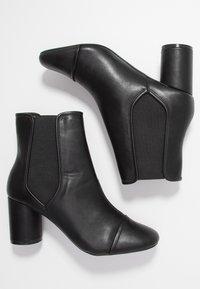 Miss Selfridge - ROUND HEEL CHELSEA BOOT - Classic ankle boots - black - 3
