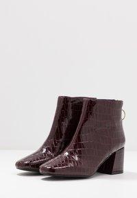 Miss Selfridge - BRIXTON - Ankelstøvler - burgandy - 4