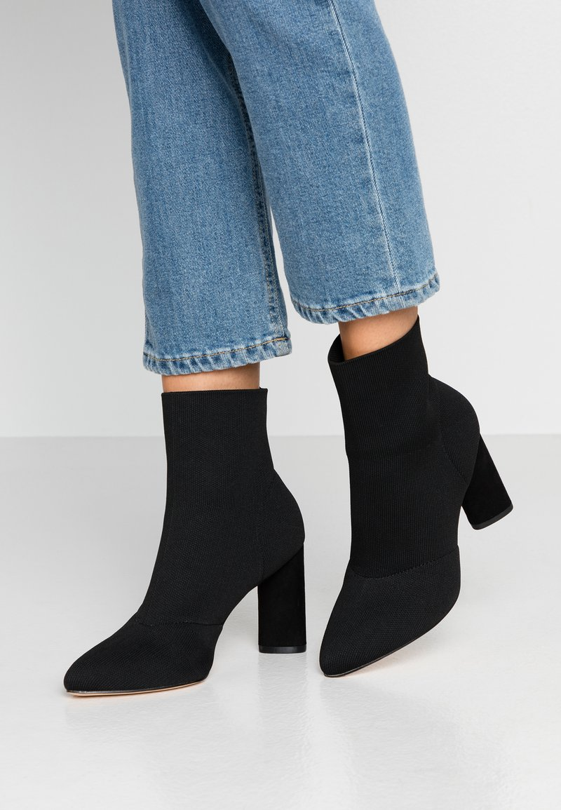 Miss Selfridge - BOBBI STRETCH - High heeled ankle boots - black