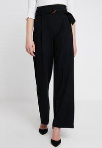 Miss Selfridge - WIDE LEG TROUSER SOURCING - Pantaloni - black - 0