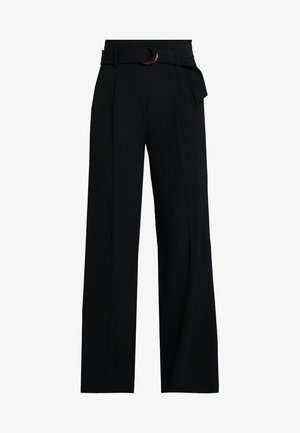 WIDE LEG TROUSER SOURCING - Tygbyxor - black