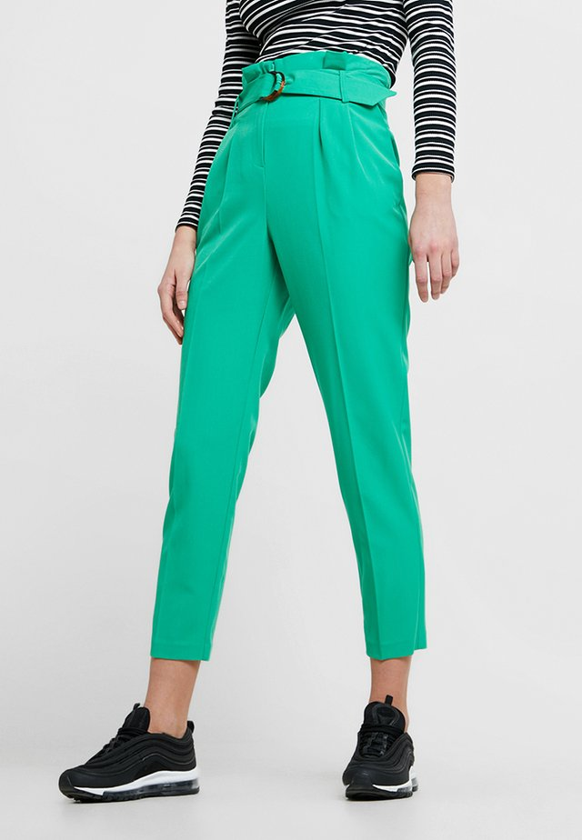 PAPERBAG TROUSER - Trousers - green
