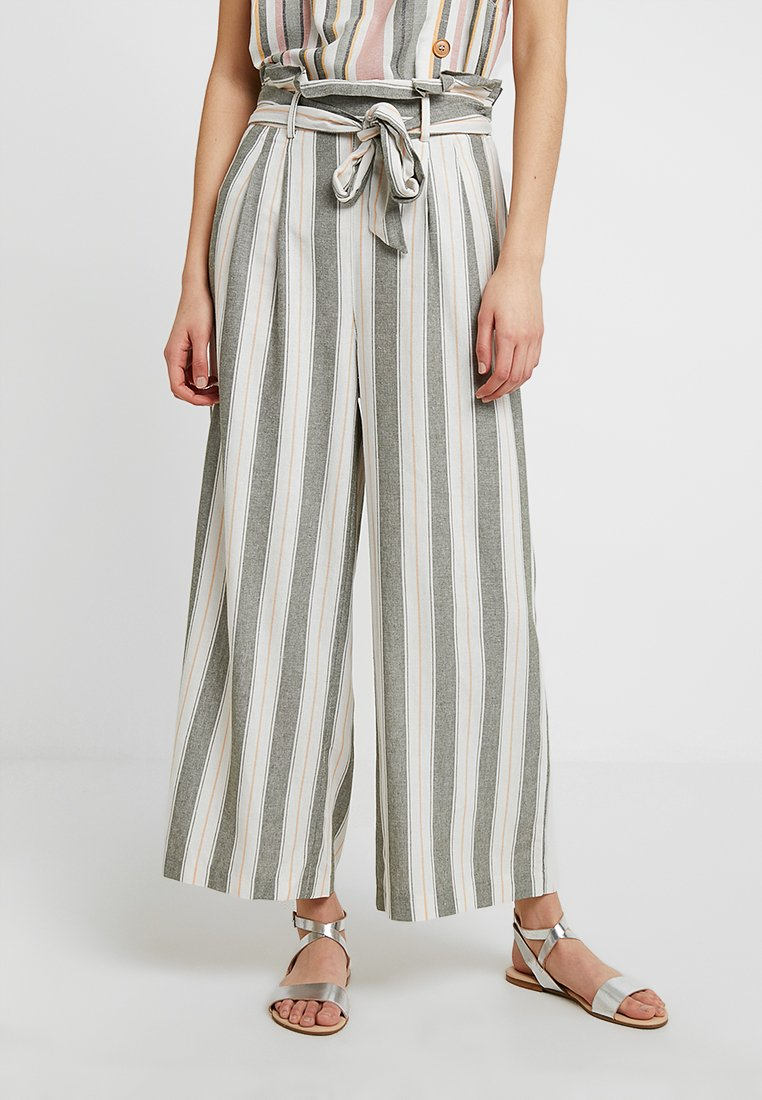 Miss Selfridge - TROUSER STRIPE PAPERBAG - Stoffhose - khaki
