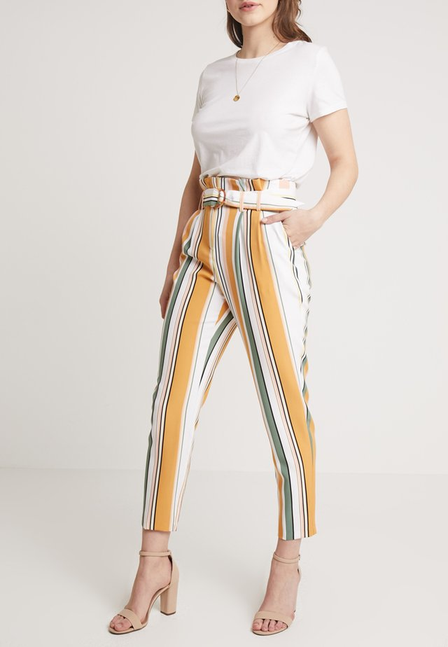 NOVA PAPERBAG STRIPE - Trousers - coloured