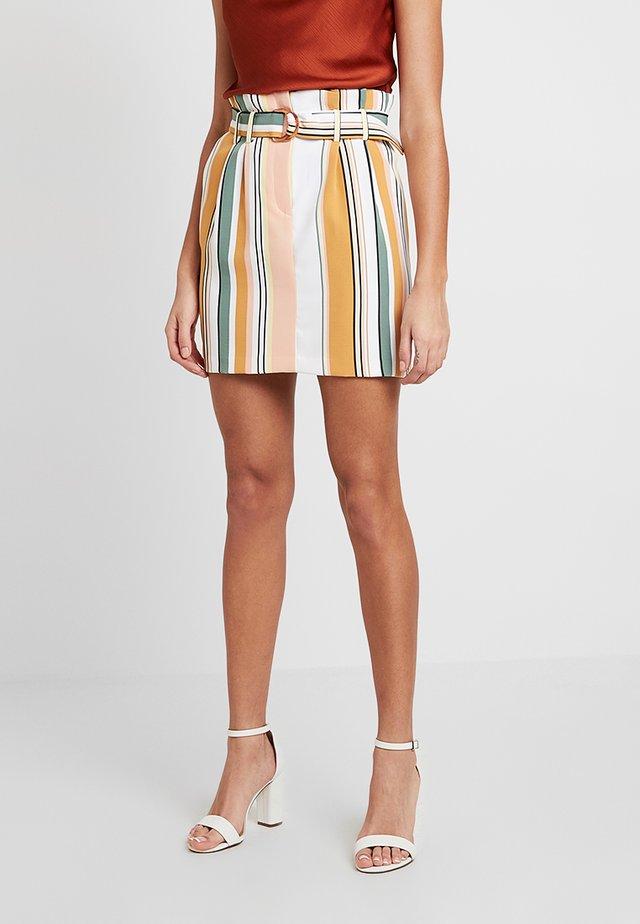 PAPERBAG SKIRT STRIPE - Mini skirt - coloured