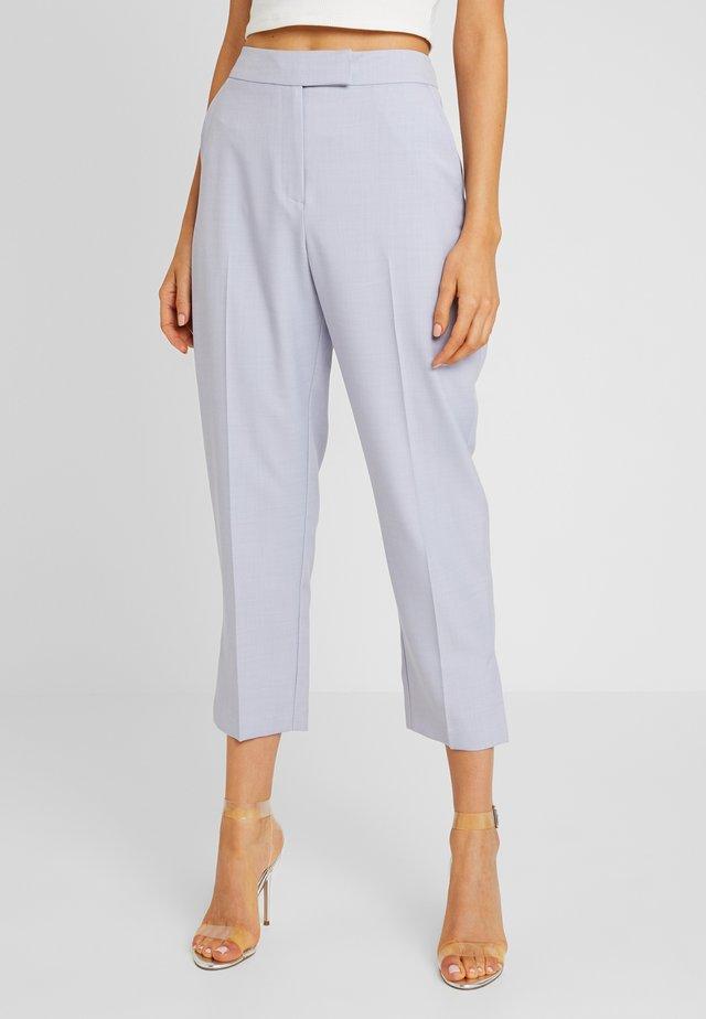 OPEN CROP SLIM TROUSER - Trousers - lilac blue
