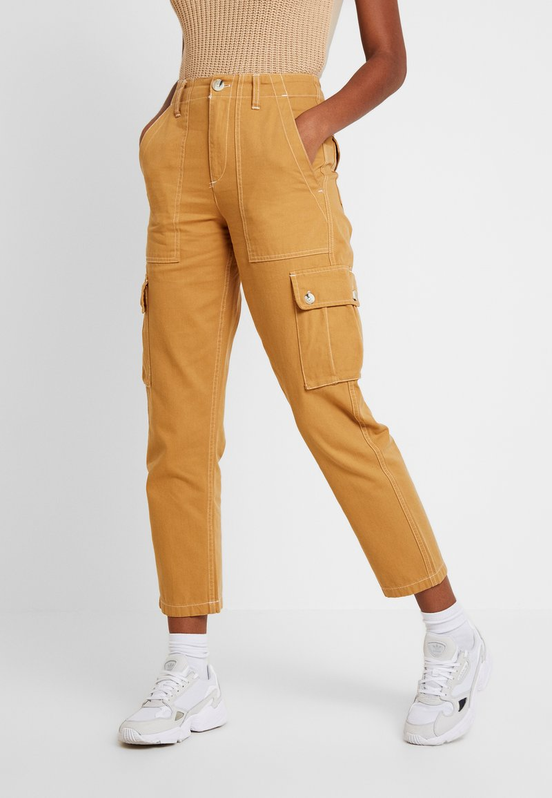 Miss Selfridge - NEW CARGO POCKET TROUSER - Bukser - sand