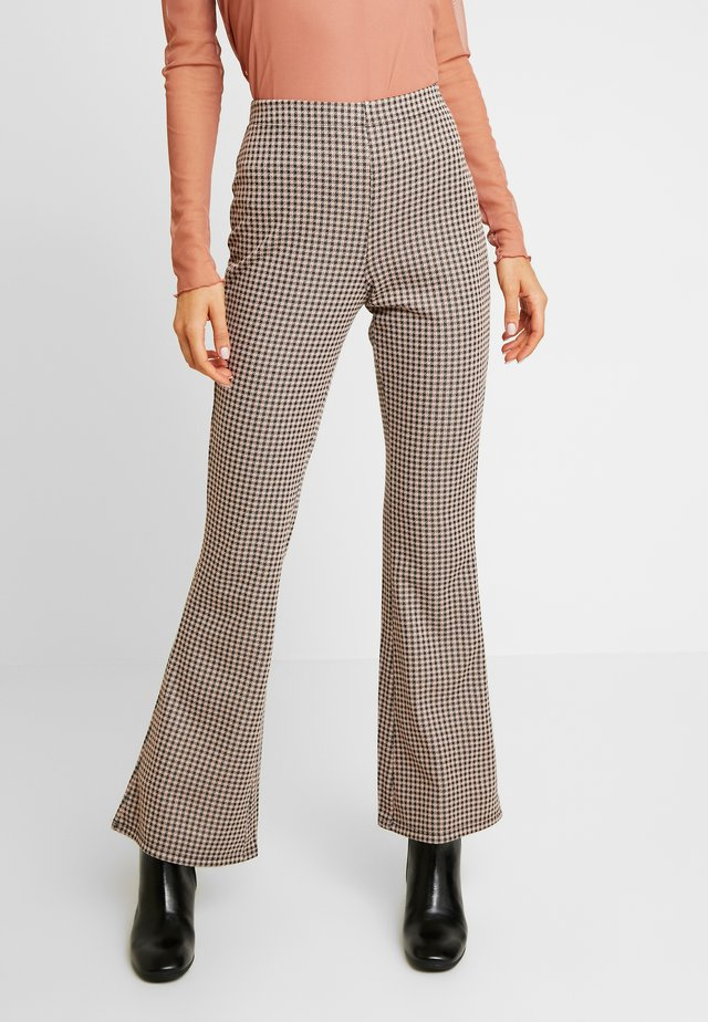 CHECK FLARED TROUSER - Trousers - multi