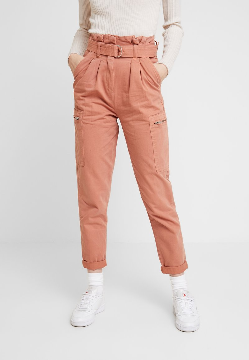 Miss Selfridge - NEW SIDE POCKET TROUSER - Bukse - blush