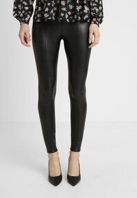 Miss Selfridge - FRONT SEAM TROUSER - Trousers - black - 0