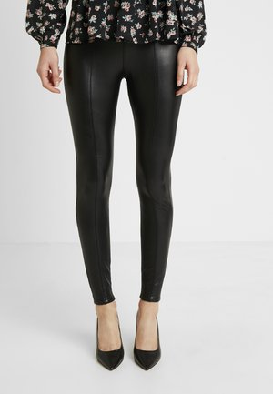 FRONT SEAM TROUSER - Trousers - black