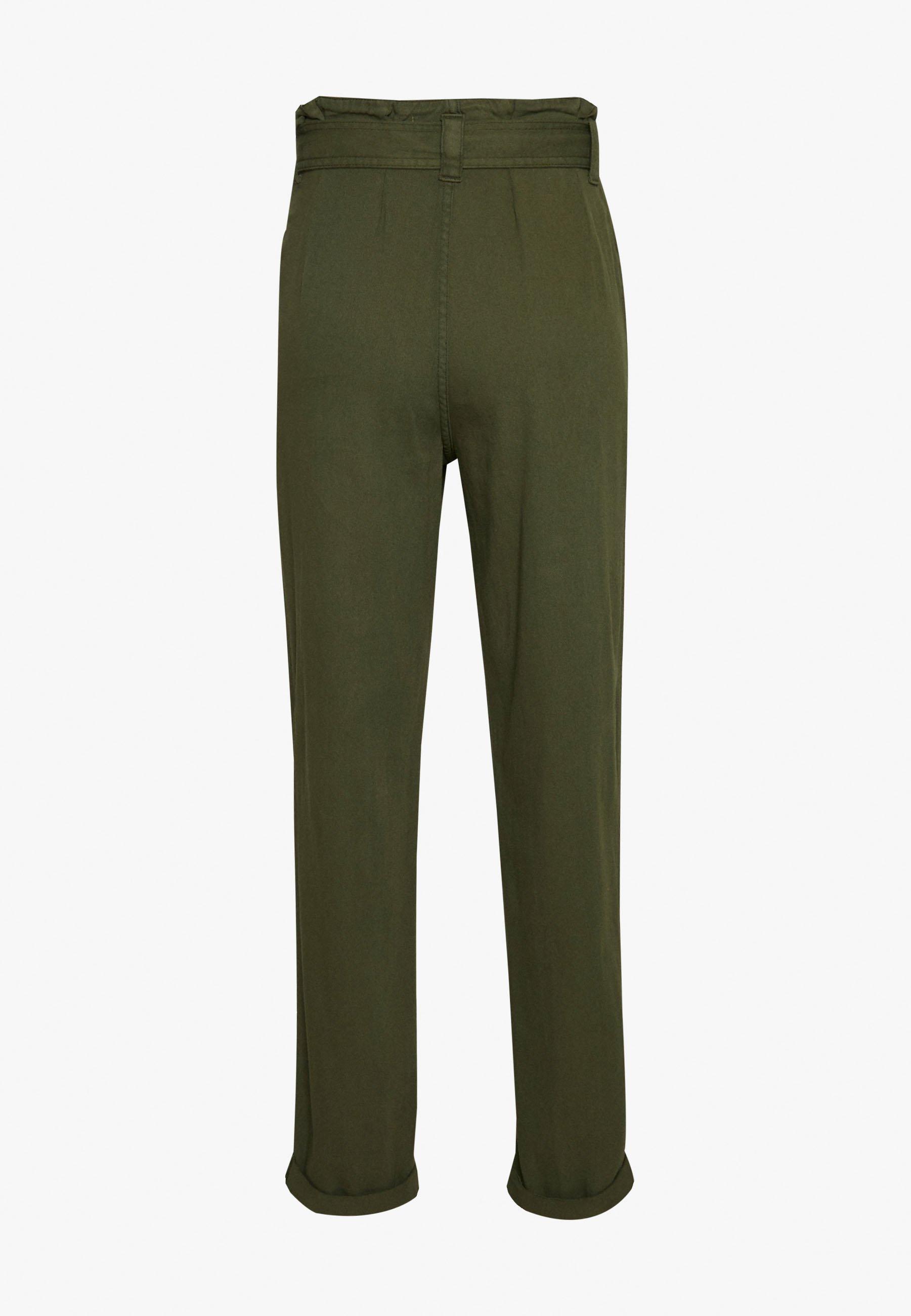 Miss Selfridge CARGO PAPERBAG - Pantaloni - khaki