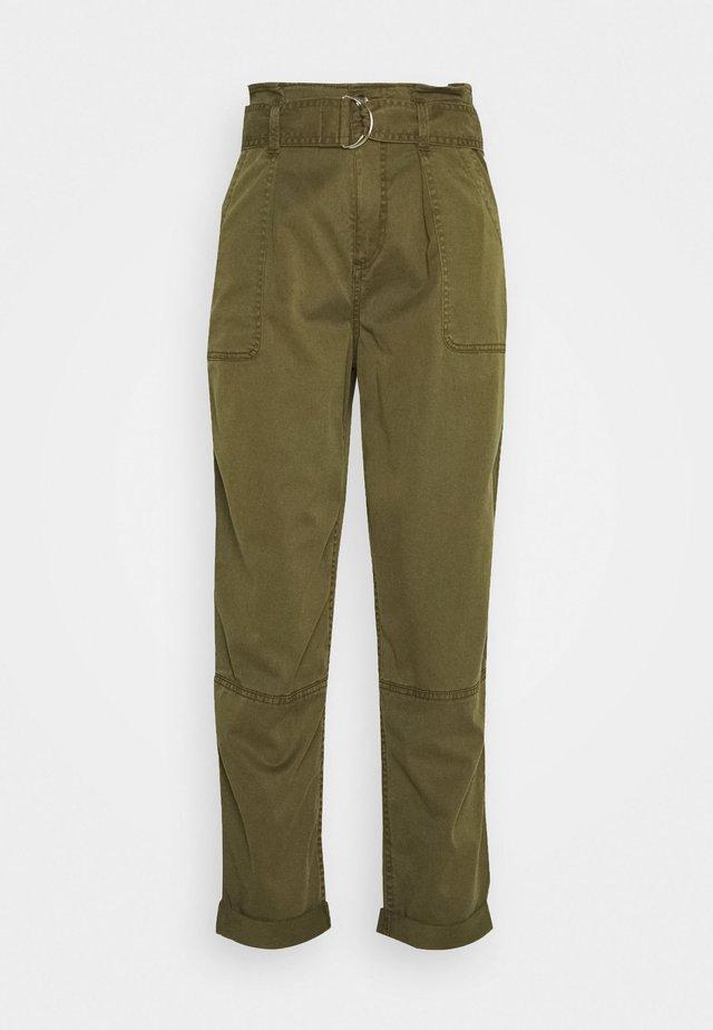 ZESPAR HANG TAB BELTED TROUSER - Trousers - khaki