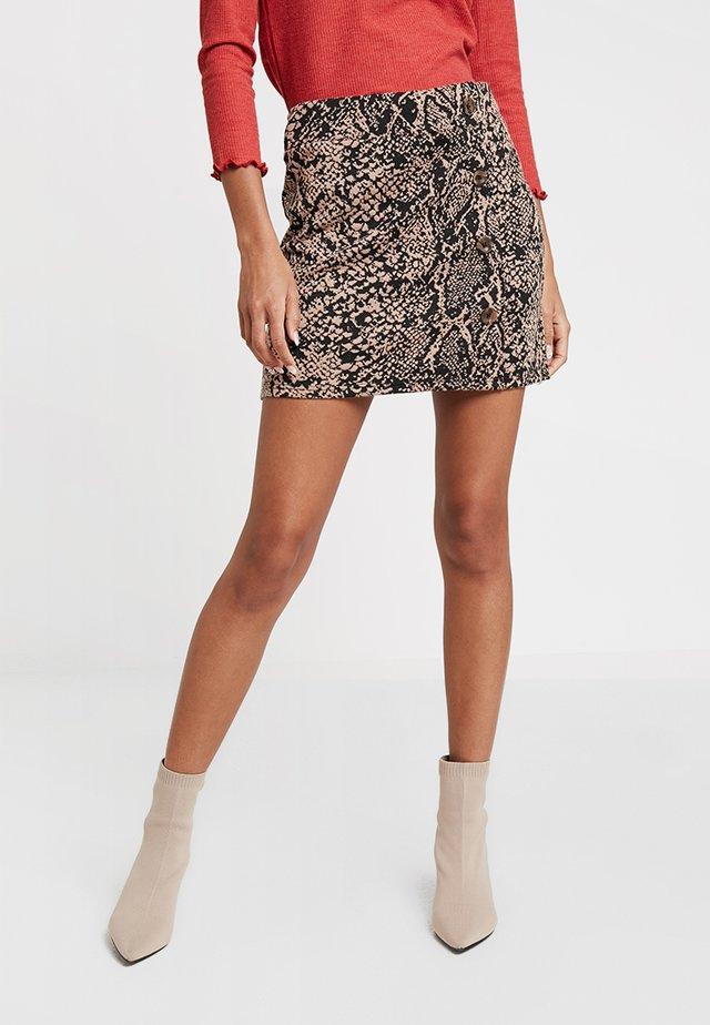 SNAKE SIDE - Mini skirt - brown