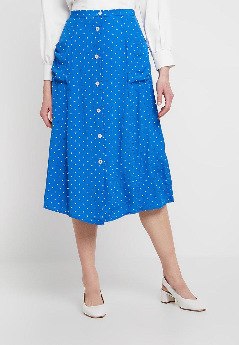 Miss Selfridge - PINSPOT MIDI SKIRT - Gonna a campana - blue