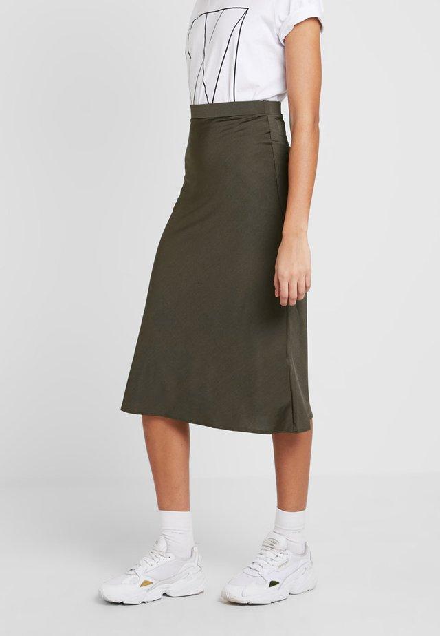 MIDI SKIRT - A-line skirt - green