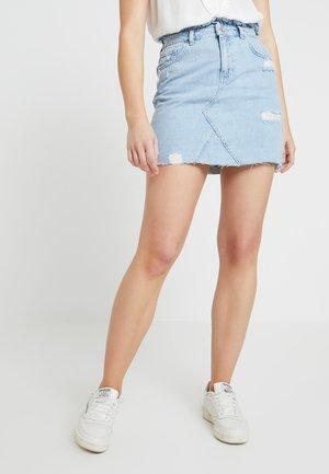 RIPPED BLEACH FRILL TOP SKIRT - A-line skirt - light