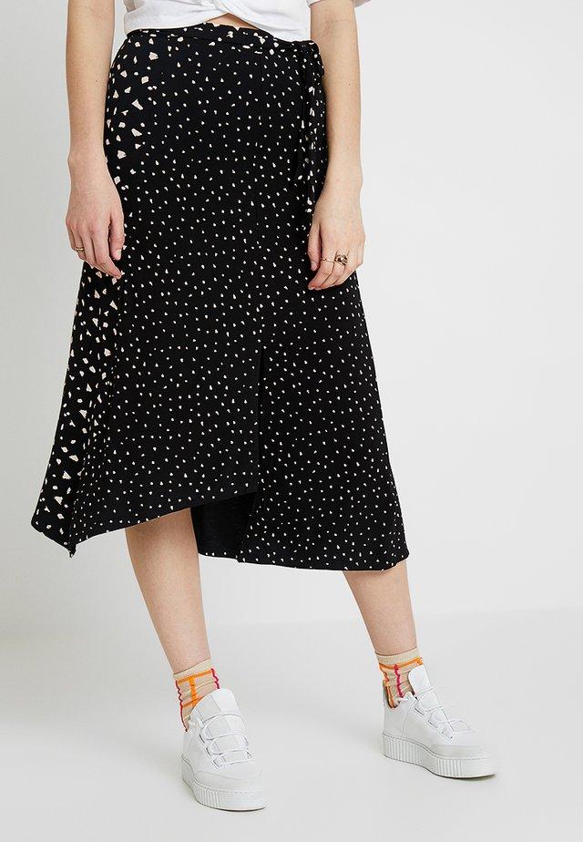 PRINTED WRAP SKIRT - A-line skirt - multi