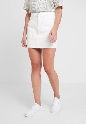 SKIRT - A-snit nederdel/ A-formede nederdele - white