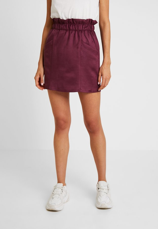 PAPER BAG SKIRT - A-line skirt - burgundy