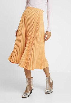 PLEATED SKIRT - Plisovaná sukně - orange