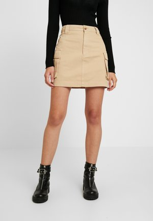 CARGO POCKET SKIRT - Minikjol - stone
