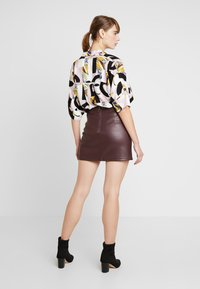 Miss Selfridge - SKIRT - A-line skirt - burgundy - 2