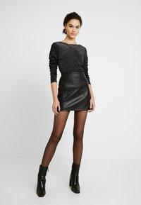 Miss Selfridge - SKIRT - Áčková sukně - black - 1