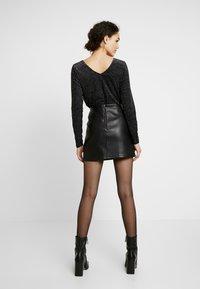 Miss Selfridge - SKIRT - Áčková sukně - black - 2