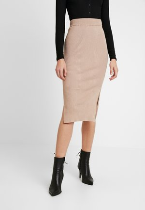 MIDI SKIRT - Pencil skirt - camel