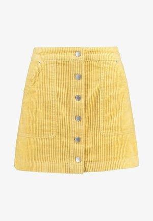 SKIRT - Mini skirt - yellow