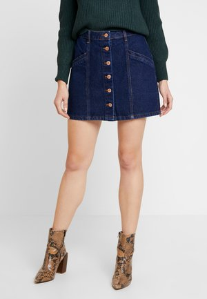 BUTTON THROUGH SKIRT - Spódnica jeansowa - ind