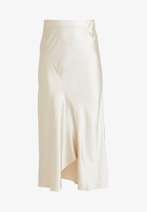 OYSTER MIDI SKIRT - Gonna a campana - oyster