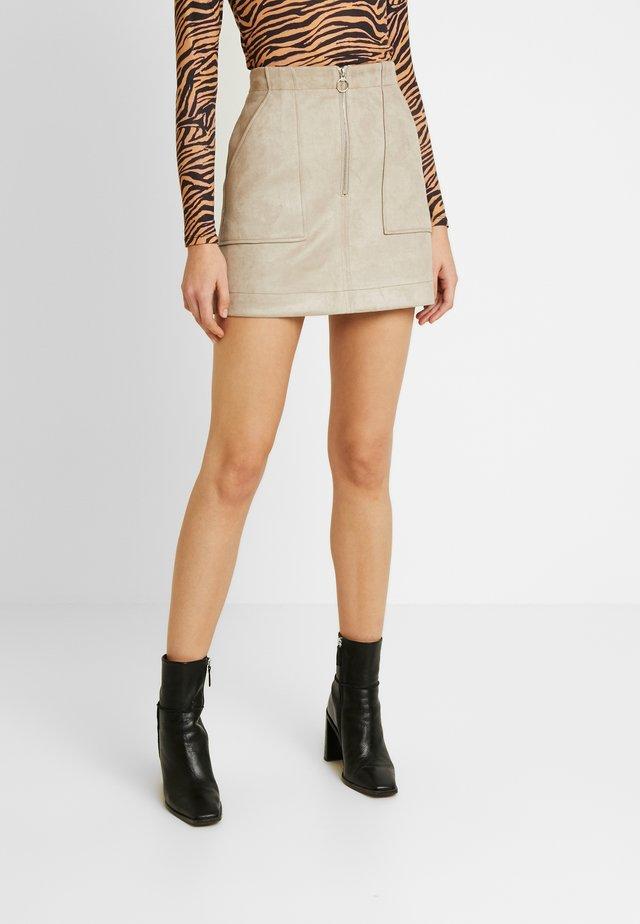 SKIRT - A-line skirt - stone