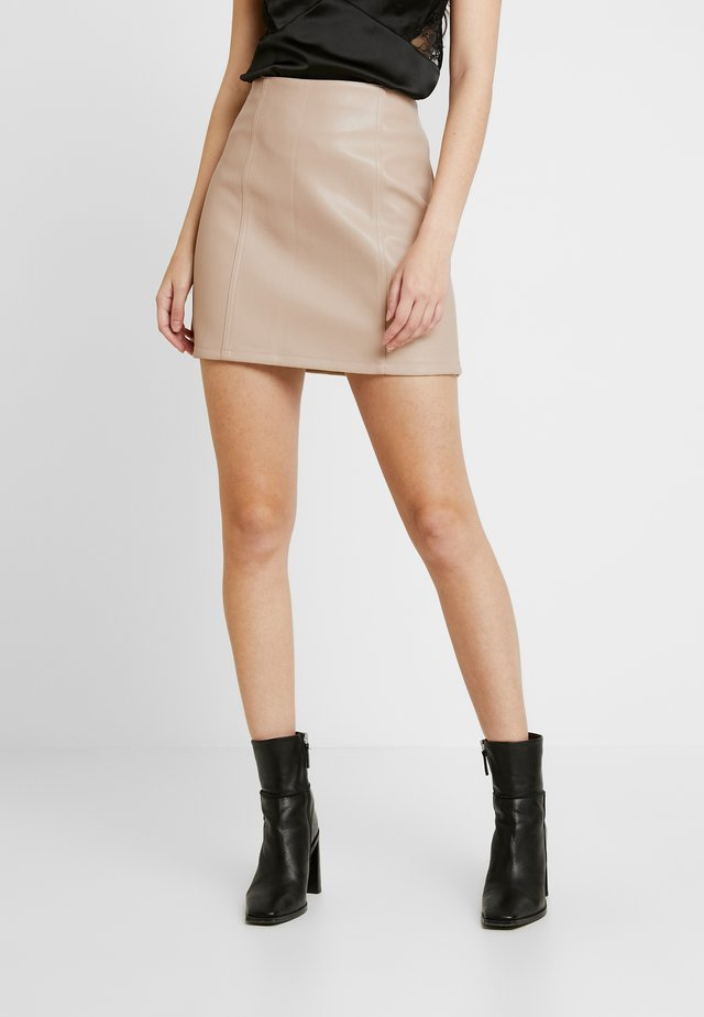 FRONT SEAM SKIRT - Mini skirt - neutral