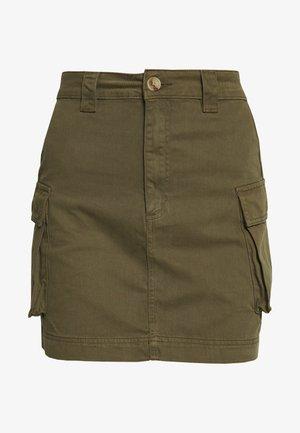 CARGO POCKET SKIRT - Spódnica mini - khaki