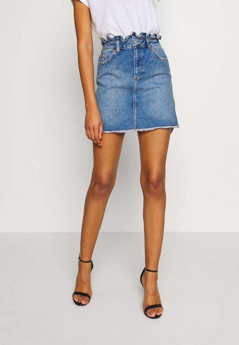 Miss Selfridge - Gonna di jeans - mid blue