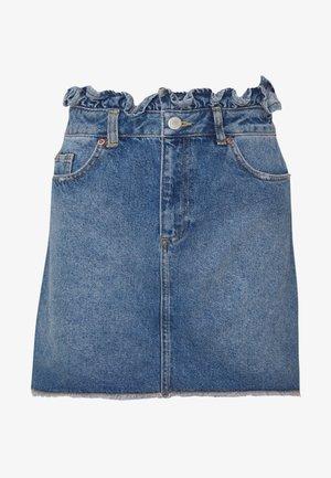 Denim skirt - mid blue