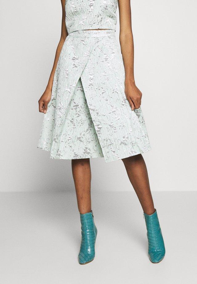 MIDI SKIRT - A-line skirt - sage green