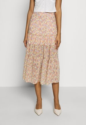 DITSY TIERRED MIDI - Gonna lunga - ivory