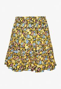 Miss Selfridge - FLORAL TIERED - A-line skirt - black - 1